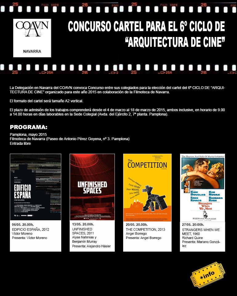 Concurso Cartel Ciclo Arquitectura de Cine