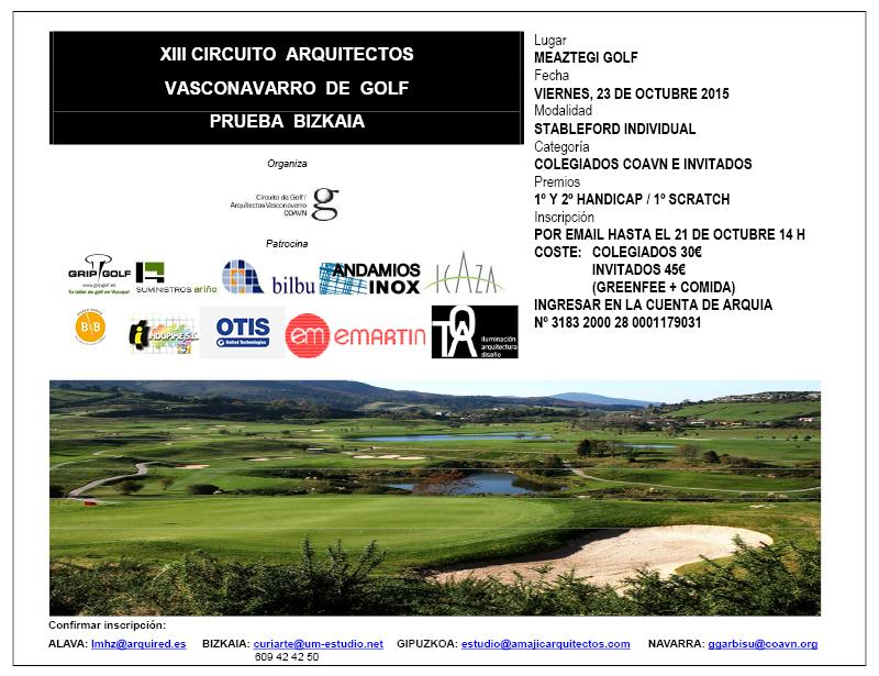 XII Cicuito COAVN Golf. Prueba Navarra
