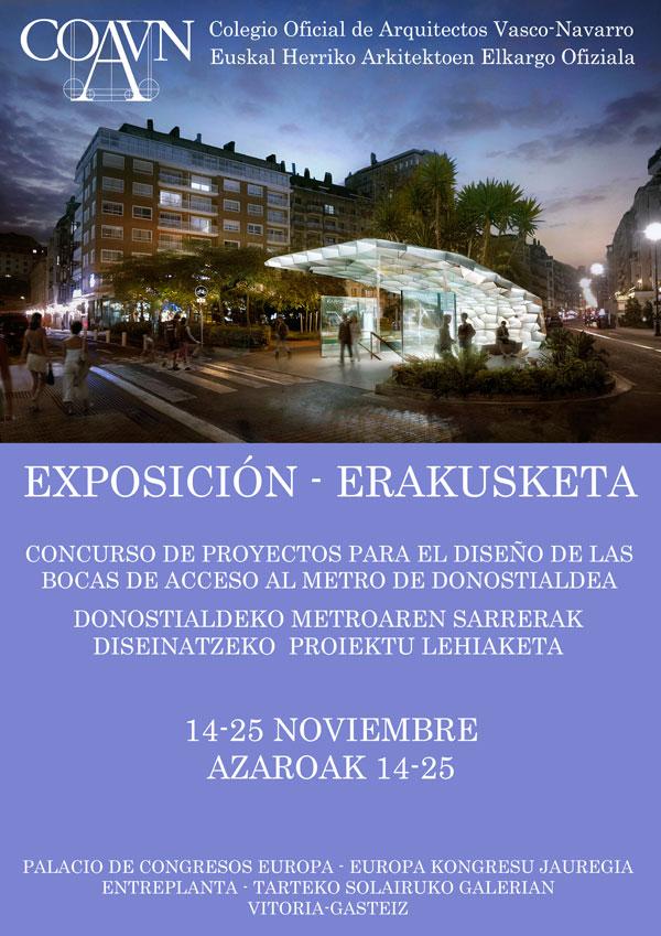 Exposicion Concurso Bocas Metro Donostialdea