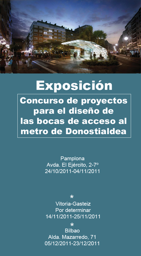 Exposicion Concurso Metro Donostialdea