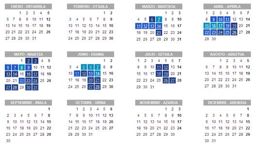 Egutegia - Calendario