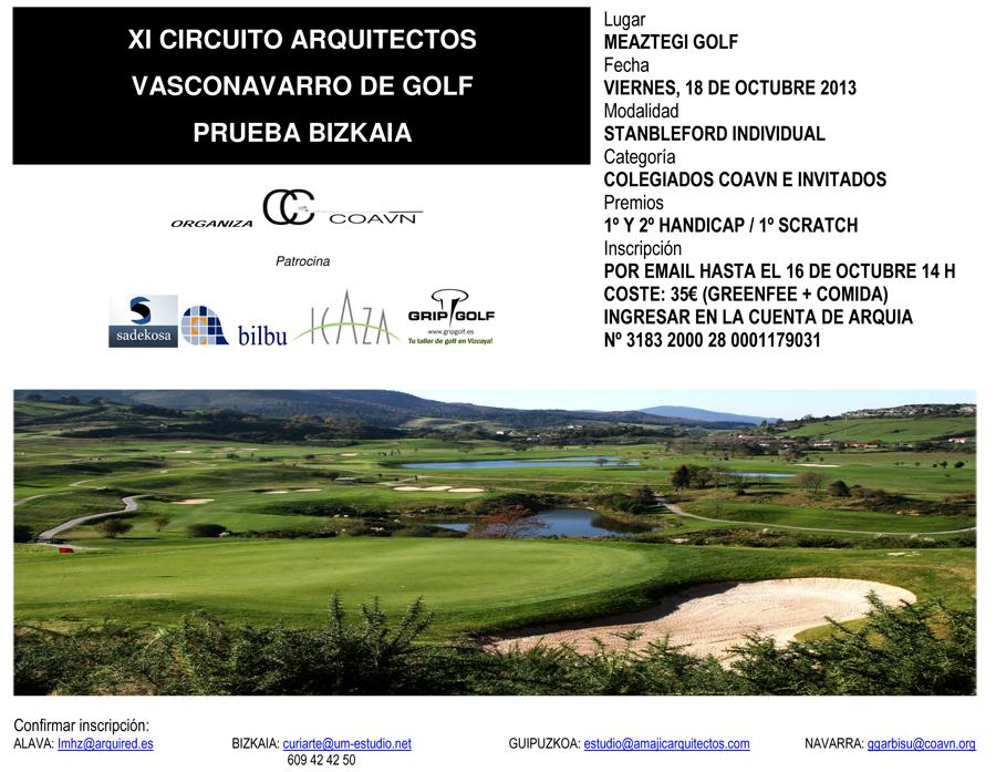 XI Circuito Golf Prueba Bizkaia