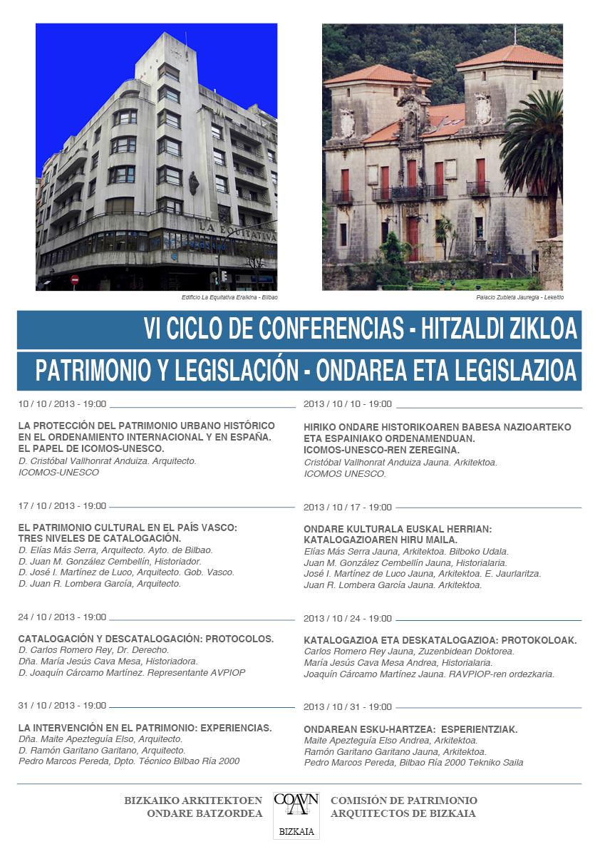 Ciclo Conferencias Patrimonio Bizkaia